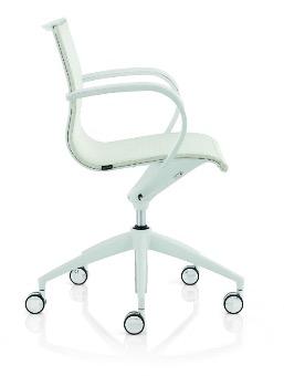 Designbürostuhl, Design Bürostuhl, Designer Stuhl, Design Konferenzstuhl, weisser Bürostuhl, Netzrücken Bürostuhl, Emmegi Bürostuhl, Design Bürodrehstuhl