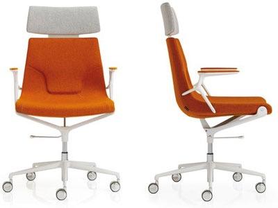 Designbürostuhl, schöner Bürostuhl, Bürostuhl weisses gestellt, weisser Bürostuhl