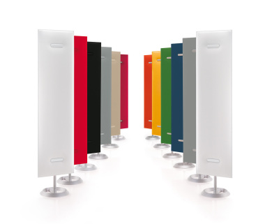 Akustiksäule, Soundbutler, Designakustik, Akustikproblem Büroraum, Nachhall verbessern, Akustikabsorber Büro