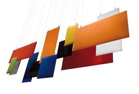 Akustikbaffel, Deckensegel Büro, Akustiksegel Design, Design Büroakustik