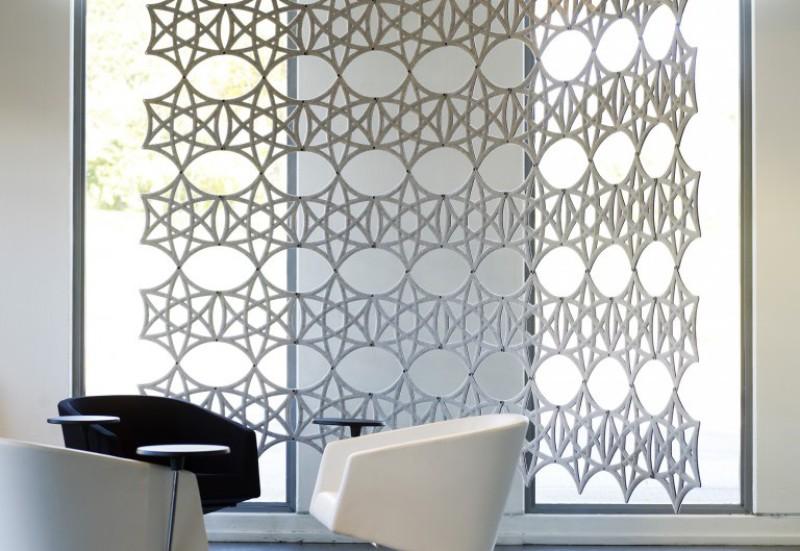 Design Raumteilung, Raumtrennung Akustik, Abstracta Airflake München