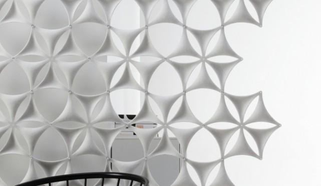 Akustik Kunst München, Ornamente Akustik, Akustik Vorhang, abgehängte Akustikraumteiler