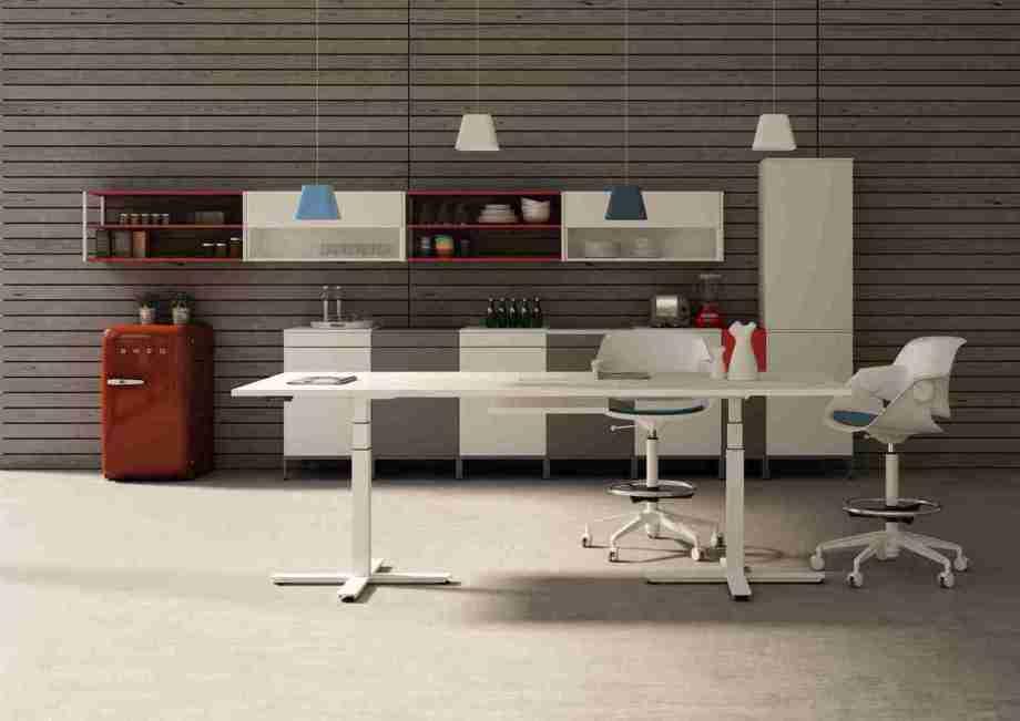 Elektrisch höhenverstellbarer Konferenztisch, Meeting Point höhenverstellbar, Hoher Besprechungstisch, Höhenverstellbarer Konferenztisch, Höhenverstellbarer Besprechungstisch, hoher Konferenztisch