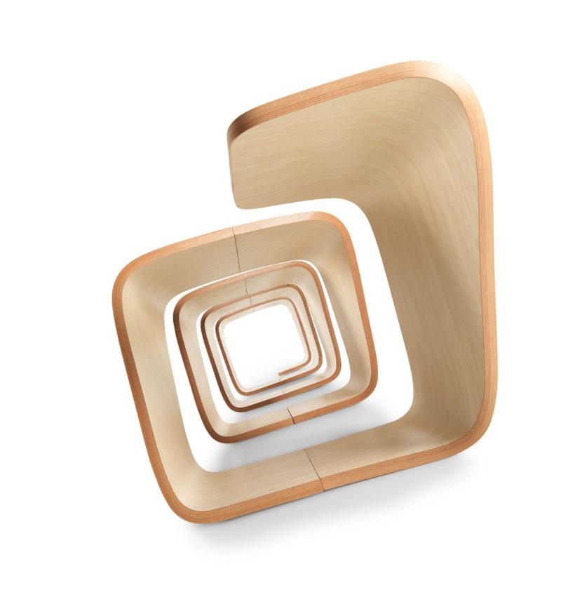 Holzwartebank, Design Holzbank, elegante Holzsitzbank, Design Wartesitz, schöne Holzbank