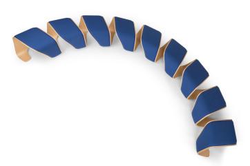 Sitzbank halbrund, Designsitzbank, Formholz Sitzbank, runde Wartebank, Holzdesign Bank