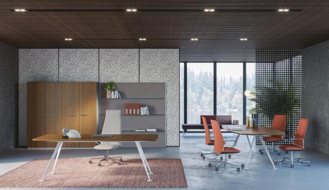 Frezza Spike, Designschreibtisch, Designertisch, Design Büromöbel, Design Schreibtisch München, eleganter Schreibtisch, Manager Schreibtisch